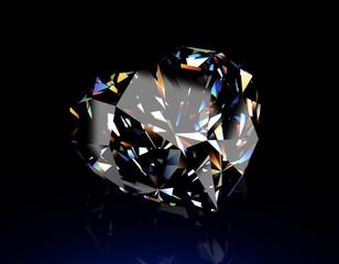 Round shape brilliant Diamond. Jewelry background