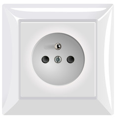 Vector version of simple modern power socket