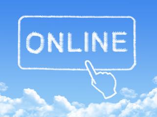 Online message cloud shape
