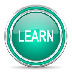 learn green glossy web icon