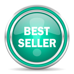 best seller green glossy web icon