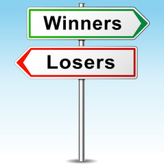 Vector winners and losers direction sign