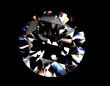 Leinwandbild Motiv Round shape brilliant Diamond. Jewelry background
