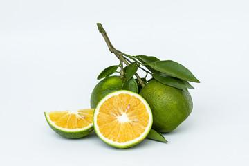 sweet Orange with leaf