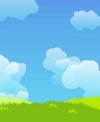 Idillyc landscape illustration