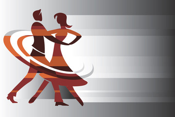 Dancing couple background