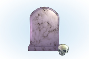 White Marble Tombstone Series II