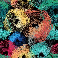 Circle grunge seamless pattern