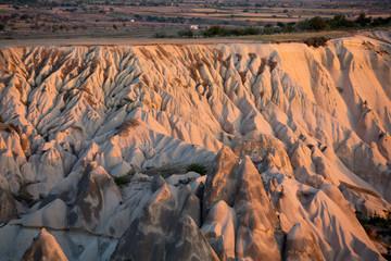 The sunrise over Cappadocia. Turkey