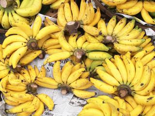 Fresh bananas background
