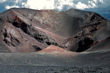Crater in Mount Etna