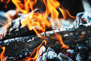 Burning down fire
