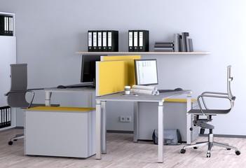 Büroraum - Doppelarbeitsplatz