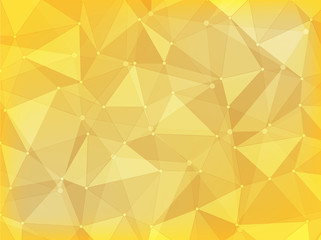geometric  polygon abstract background of yellow