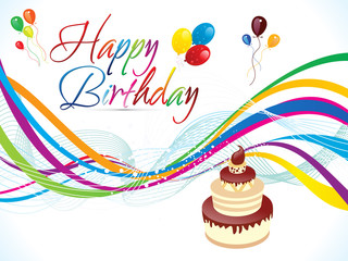 abstract artistic colorful birthday background