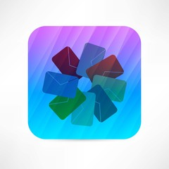 colored envelops icon