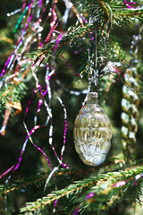 glass vintage cone christmas decoration