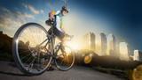 Fototapety Road cyclist