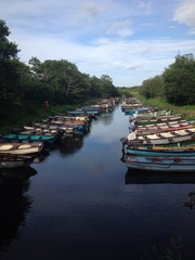 boats in waterway, ireland