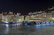 Night scene of Warsaw Old City Square,