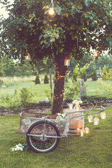 Rustic lovely decoration of garden