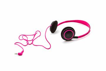 Pink headphones.