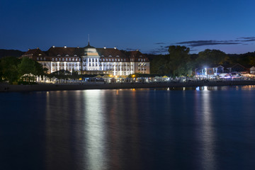 Night view of Sopot city in Poland