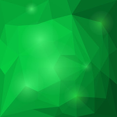 Abstract emerald colored vector triangular geometric background