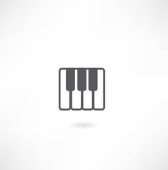 piano keys icon