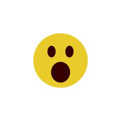 Scared flat emoji