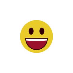 Happy flat emoji
