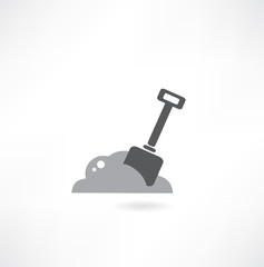 illustration of isolated shovel on white background