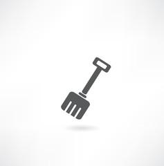 Shovel on a white background. Vector illustration.