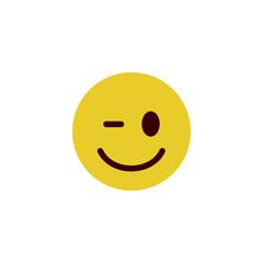Wink flat emoji