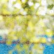rain drops on window glass after summer shower