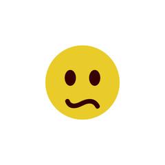 Puzzled flat emoji