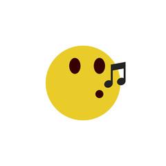Whistling flat emoji