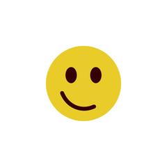 Smug flat emoji