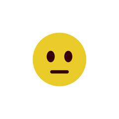 Speechless flat emoji