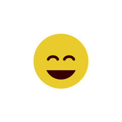 Giggle flat emoji
