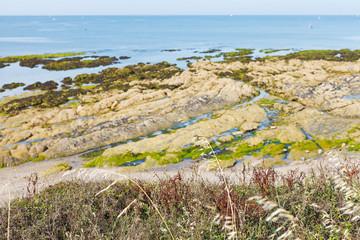 coastline of Atlantic ocean on Guerande Peninsula