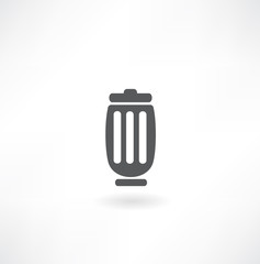 Trash bin vector icon