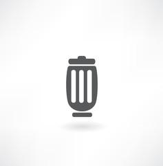 Trash bin vector icon