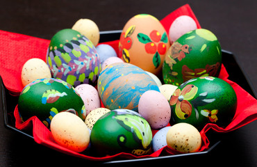 Easter eggs painting, russian style, paskha