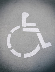 Place for disabled and invalid parking.