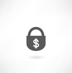 lock with dollar icon