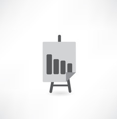 easel with graph icon