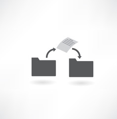move a file from folder to folder icon