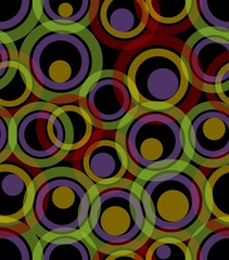 Seamless dark background composed from transparent circles
