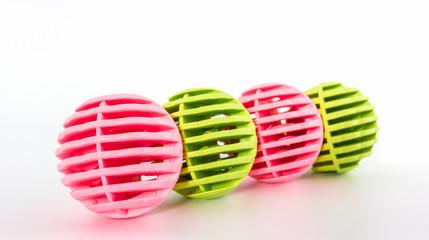 Colorful of washing ball, plastic balls.